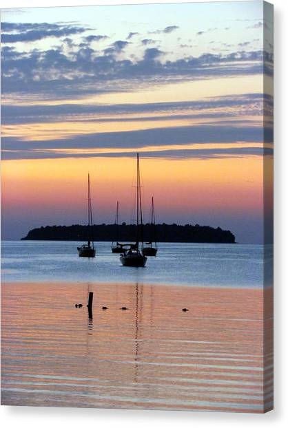 Horsehoe Island Sunset Canvas Print