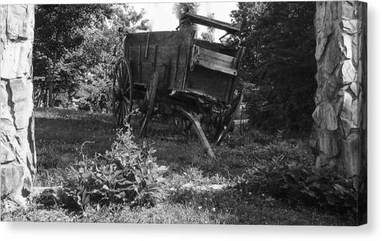 Horseless Blk And Wht  Canvas Print by Robert J Andler