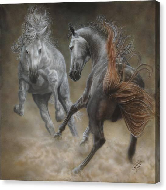 Horseplay II Canvas Print