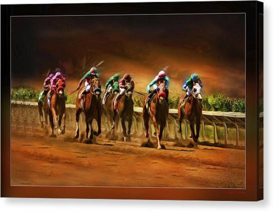 Horse's 7 At The End Canvas Print