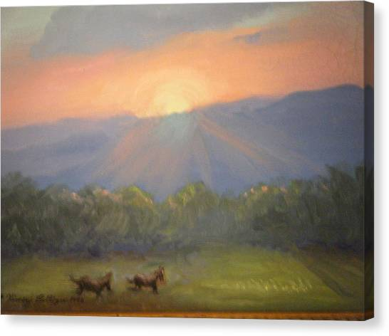 Horses Running Free Canvas Print by Patricia Kimsey Bollinger