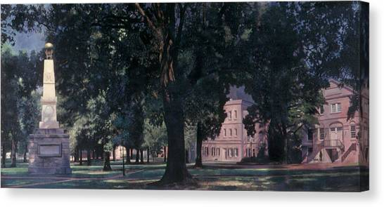 Sec Canvas Print - Horseshoe At University Of South Carolina Mural 1984 by Blue Sky