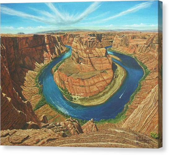 Fibonacci Canvas Print - Horseshoe Bend Colorado River Arizona by Richard Harpum