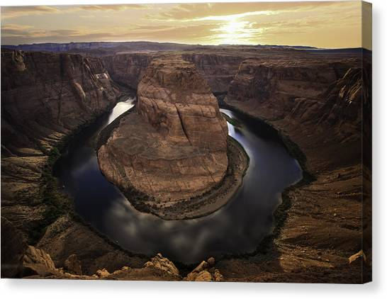 Rattlesnakes Canvas Print - Horseshoe Bend by Larry Marshall