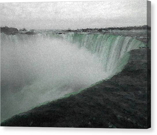 Horseshoe Falls In Winter Canvas Print