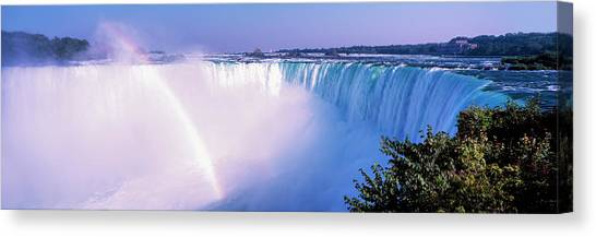 Horseshoe Falls Canvas Print - Horseshoe Falls With Rainbow, Niagara by Panoramic Images