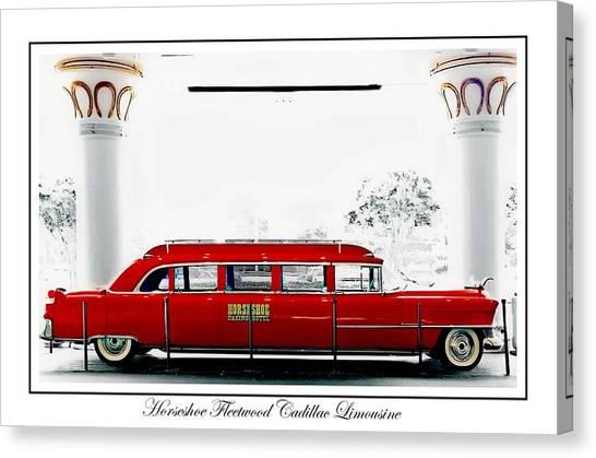 Horseshoe Fleetwood Cadillac Limousine Canvas Print