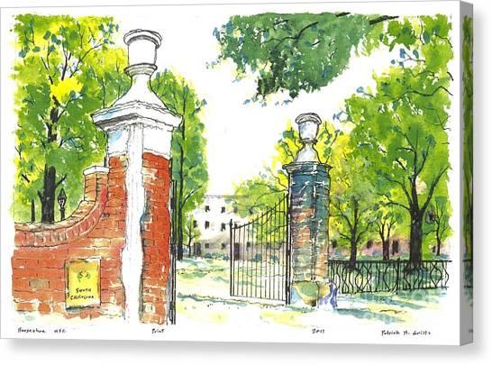 Horseshoe University Of S.c. Canvas Print