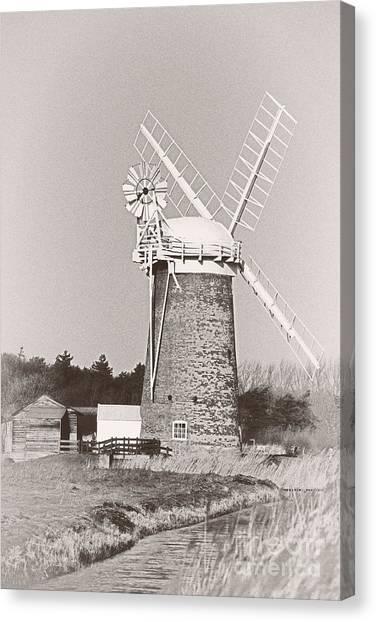 Horsey Wind Pump Vertical Canvas Print