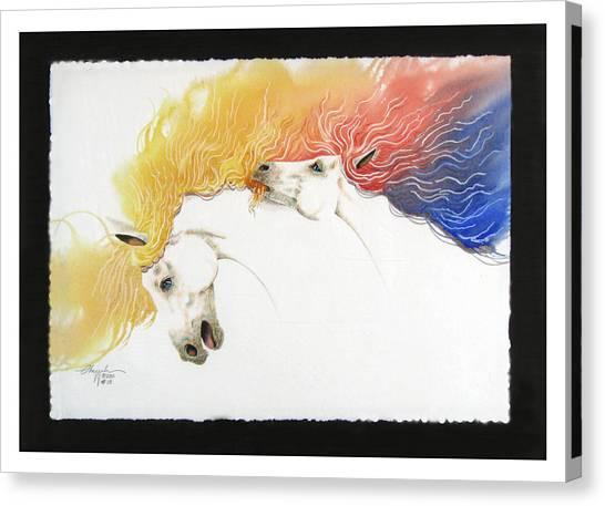 Horsin Around Number Ten Canvas Print