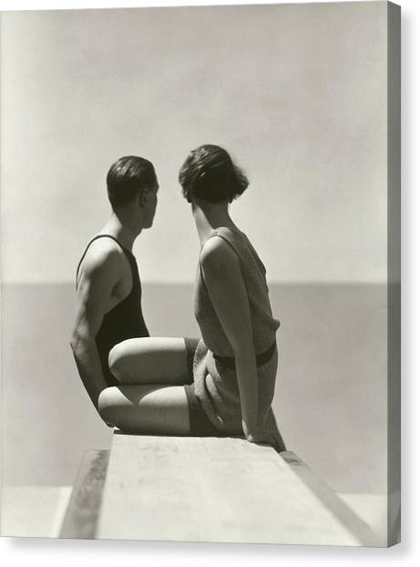 Side View Canvas Print - The Bathers by George Hoyningen-Huene