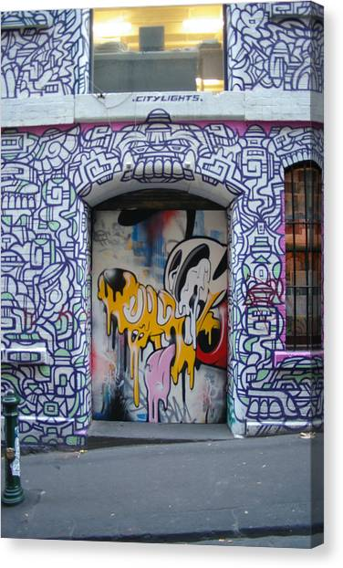 Hip Hop Canvas Print - Hosier Lane Graffiti by Arik Bennado