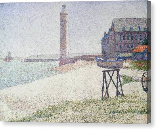 Washington Nationals Canvas Print - Hospice And Lighthouse At Honfleur by Georges Seurat