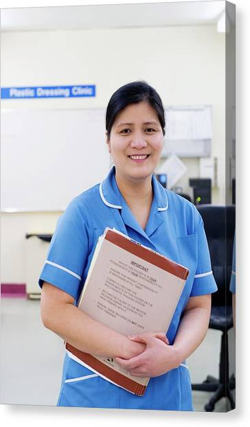 Folders Canvas Print - Hospital Nurse by Lth Nhs Trust