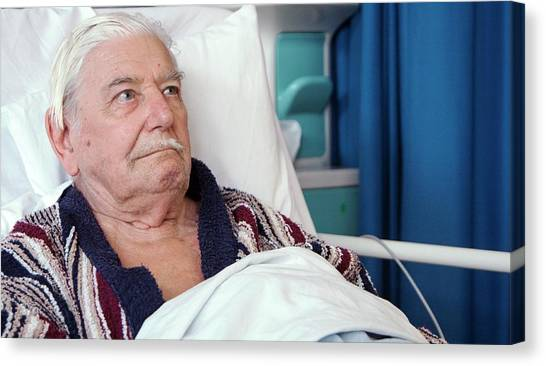 Hospital Patient Canvas Print by Life In View