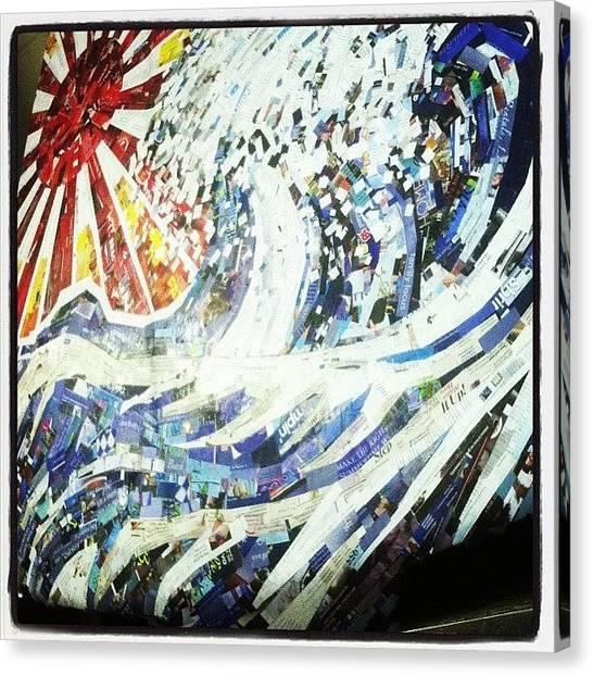Tsunamis Canvas Print - #hosukai #tsunami #jdm #risingsun by Noelle Dumas