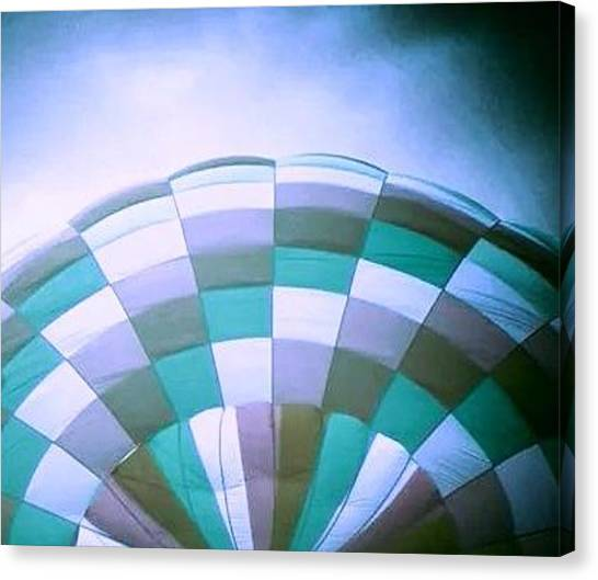 Hot Air Balloons Canvas Print - Hot Air Balloon Blue by Candy Floss Happy