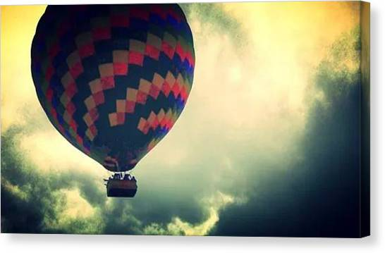 Hot Air Balloons Canvas Print - Hot Air Balloon by Candy Floss Happy