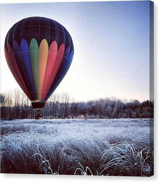 Hot Air Balloons Canvas Print - Hot Air Balloon Winter by Kurt