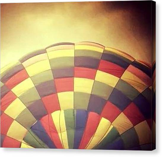Hot Air Balloons Canvas Print - Hot Air Balloon Yellow by Candy Floss Happy