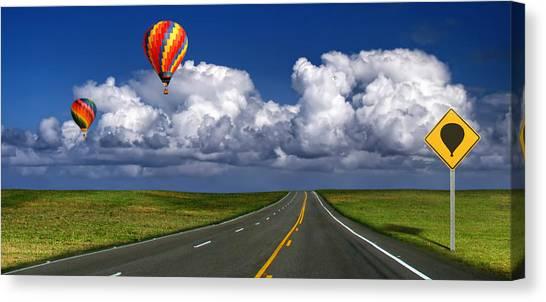 Hot Air Balloons Canvas Print by Carlos Gotay