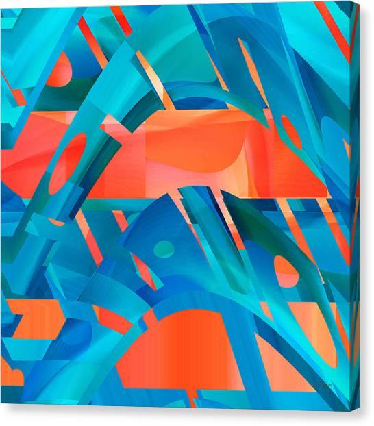 Hot Blue Canvas Print