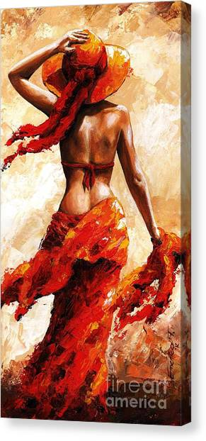 Bikini Canvas Print - Hot Breeze #02 by Emerico Imre Toth