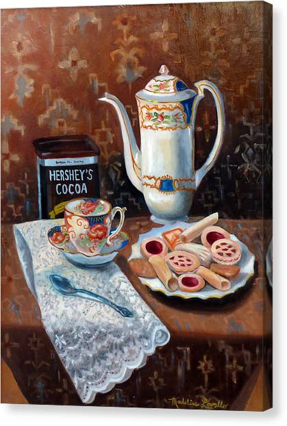 Hot Chocolate Pot Canvas Print