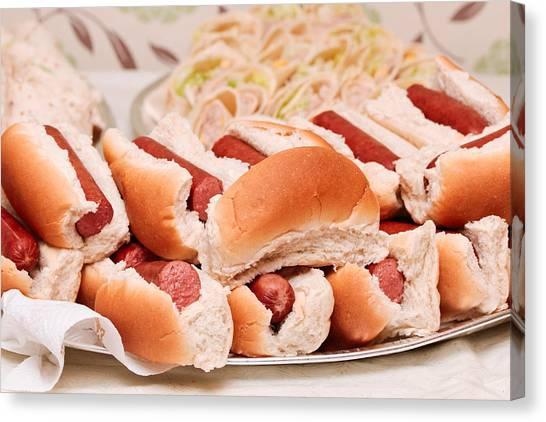 Hotdogs Canvas Print - Hot Dogs by Tom Gowanlock