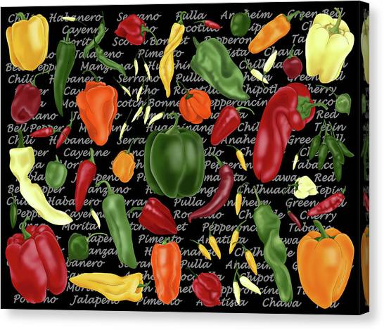 Hot For Chilis Canvas Print