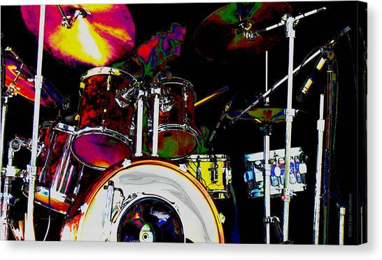 Hot Licks Drummer Canvas Print