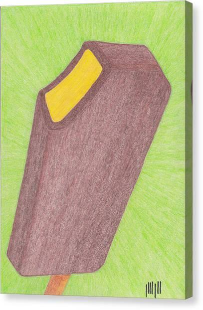 Hot Mustard Fudgsicle Canvas Print