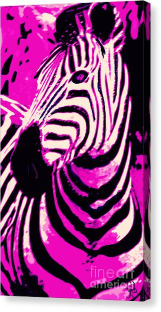 Hot Pink Zebra  Canvas Print