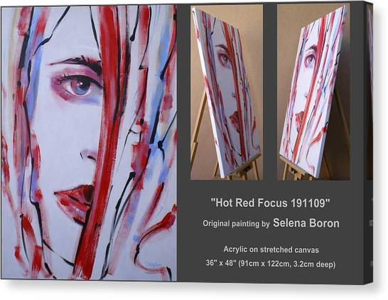 Hot Red Focus 191109 Canvas Print