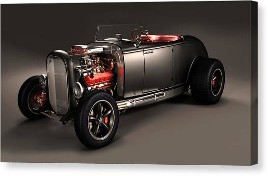Art Deco Canvas Print - Hot Rod by Scott Cummings