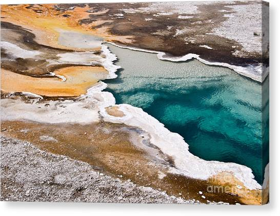 Yellowstone National Park Canvas Print - Hot Spring  by Delphimages Photo Creations