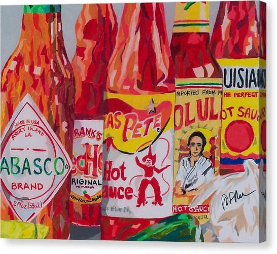 Hot Sauce Canvas Print - Hot Stuff by Steve Teets