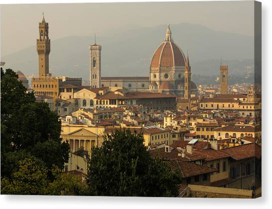 Hot Summer Afternoon In Florence Italy Canvas Print