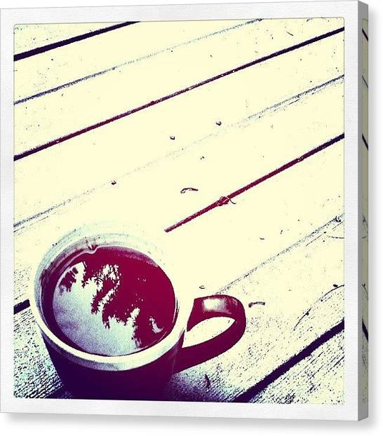 Liquids Canvas Print - #hotcoffee On A #hotsummerday by Devin Muylle