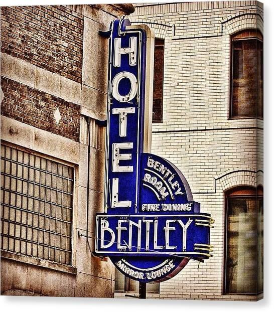 Downtown Canvas Print - Hotel Bently by Scott Pellegrin