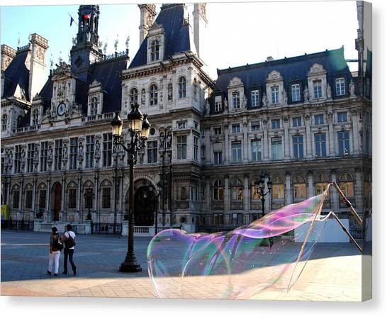 Hotel De Ville Bubble Canvas Print by Jacqueline M Lewis