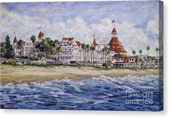Hotel Del Beach Canvas Print