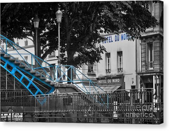 Romanticism Canvas Print - Hotel Du Nord by Delphimages Photo Creations