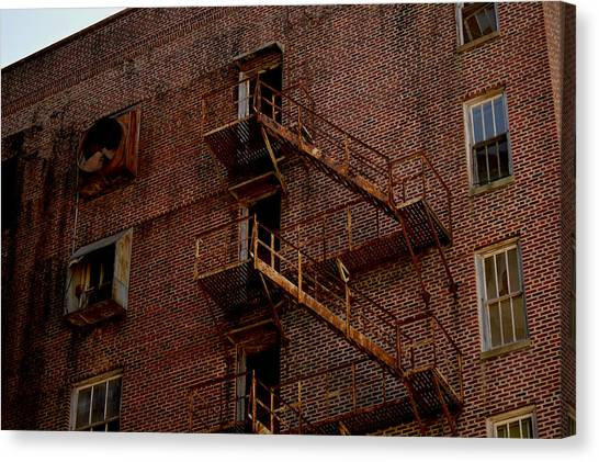 Hotel Grim Fire Escape Canvas Print by Joel Wright