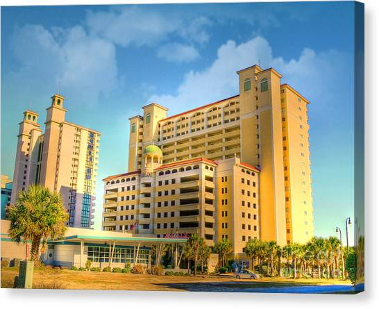 Hotel In Downtown Myrtle Beach Canvas Print