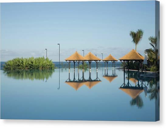 Hotel Pool, Tenerife, Canary Islands Canvas Print