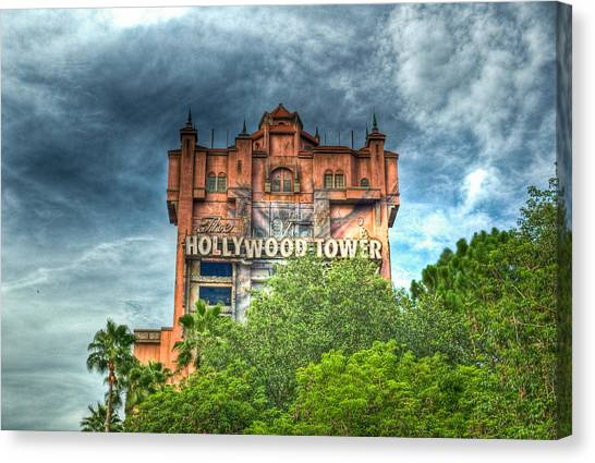 Tv Tower Canvas Print - Hotel Reservations by Ryan Crane