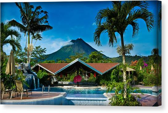 Arenal Volcano Canvas Print - Hotel With A Hot View by Gary Keesler