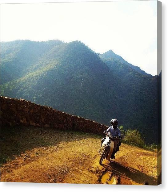 Backpacks Canvas Print - #hothau #hagiang #ontheroad #gopro by An Chung