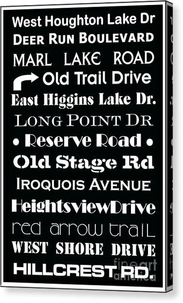 Houghton Higgins Subway Sign Canvas Print